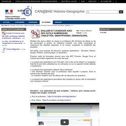 CAN@BAE Histoire-Géographie - Evaluer et s'exercer avec des outils numériques (tablettes, smartphones, ordinateurs)