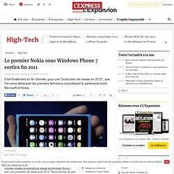 Smartphones: Le premier Nokia sous Windows Phone 7 sortira fin 2011
