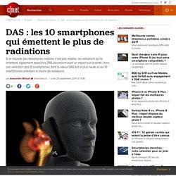 DAS : les 10 smartphones qui émettent le plus de radiations -