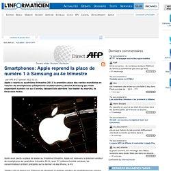 Smartphones: Apple reprend la place de numéro 1 à Samsung au 4e trimestre