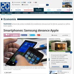 Smartphones: Samsung devance Apple