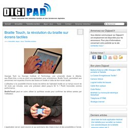 Braille touch: Le braille sur smartphones et tablettes tactiles