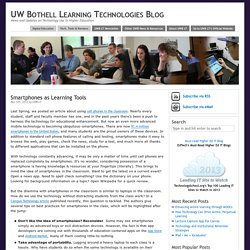 Smartphones as Learning Tools – UW Bothell Learning Technologies Blog