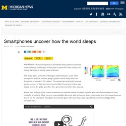 Smartphones uncover how the world sleeps