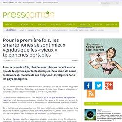 """Plus de smartphones vendus que de """"vieux"""" portables"""