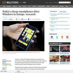 Nokia's cheap smartphones drive Windows in Europe -research