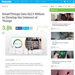 SmartThings Gets $12.5 Million to Develop the Internet of Things