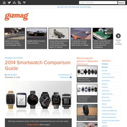 2014 Smartwatch Comparison Guide
