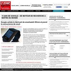 Google achète le fabricant de smartwatch Wimm et prend la concurrence de court