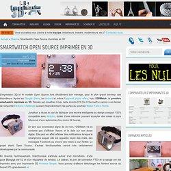 DIY : Smartwatch Open Source imprimée en 3D