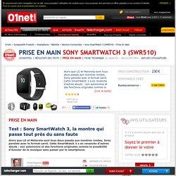 Sony SmartWatch 3 (SWR510) Test : Sony SmartWatch 3, la montre qui passe tout près du sans faute