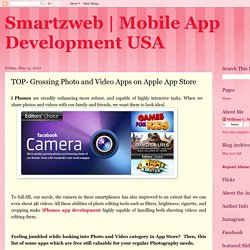 Mobile App Development USA: TOP- Grossing Photo and Video Apps on Apple App Store