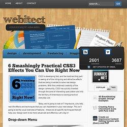 6 smashingly des effets concrets CSS3 vous pouvez droit Utilisez