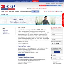 SME Loans: DHFL Offers SME Loans in India