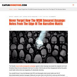 Never Forget How The MSM Smeared Assange: Notes From The Edge Of The Narrative Matrix