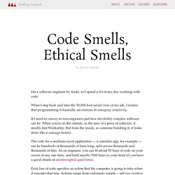 Code Smells, Ethical Smells