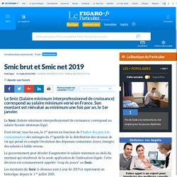Smic brut et Smic net 2018