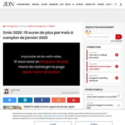 Smic 2020: 15euros de plus par mois à compter de janvier 2020