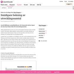Smidigare bokning av utvecklingssamtal – Digi-bloggen