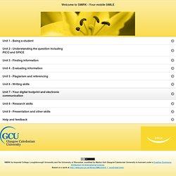 SMIRK jQuery Mobile Web App Start page
