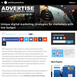 Unique digital marketing strategies for marketers with low budget