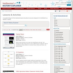 Smithsonian's History Explorer Lessons & Activities