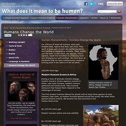 Humans Change the World
