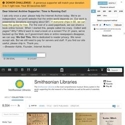 Smithsonian Libraries : Free Books : Free Texts : Download & Streaming