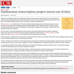 Smithsonian transcription project moves out of beta