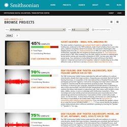 Smithsonian Digital Volunteers