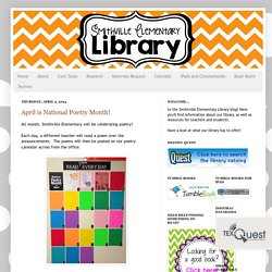 Smithville Elementary Library: April is National Poetry Month!