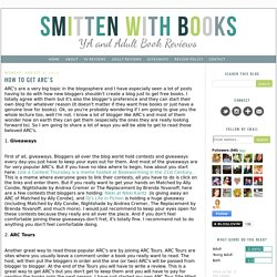 Smitten With Books: How to Get ARC's