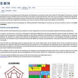 Des activités « d'algorithme débranché » avant de commencer scratch - SMN