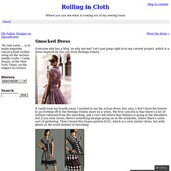 Smocked Dress « Rolling in Cloth