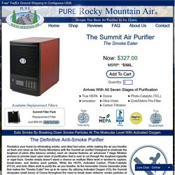 Best Ozone Air Purifier & Ozone Generator For Smoke Removal - Rocky Mountain Air