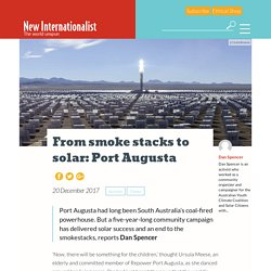 From smoke stacks to solar: Port Augusta