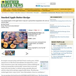 Smoked Apple Butter Recipe
