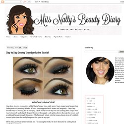 Miss Natty's Beauty Diary Blog: Step by Step Smokey Taupe Eyeshadow Tutorial!