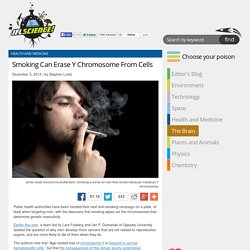 Smoking Can Erase Y Chromosome From Cells