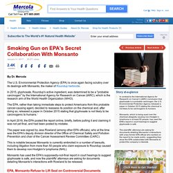 Smoking Gun on EPA's Secret Collaboration With Monsanto