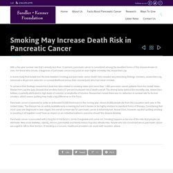Smoking May Increase Death Risk in Pancreatic Cancer