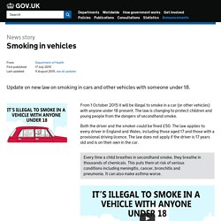 Smoking in vehicles