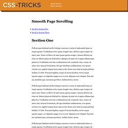 Smooth Page Scroll