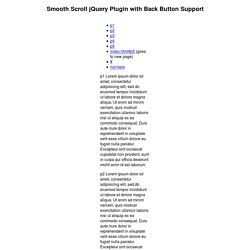 Smooth Scroll jQuery Plugin Demo