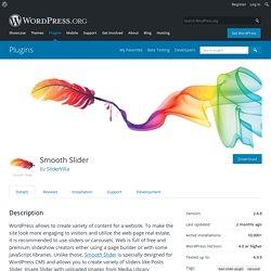 Smooth Slider — WordPress Plugins