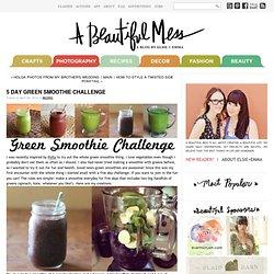 5 Day Green Smoothie Challenge