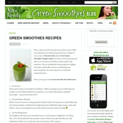 Best Green Smoothie Recipes | Green Smoothies