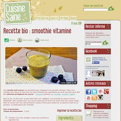 Smoothie vitaminé