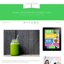 Green Smoothie for Weight Loss? |