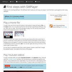 linux SMPlayer - first steps